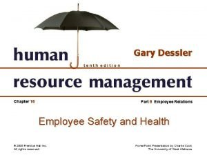 Gary Dessler tenth edition Chapter 16 Part 5