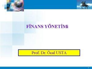 FNANS YNETMi Prof Dr cal USTA 0 LETME