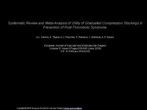 Systematic Review and MetaAnalysis of Utility of Graduated