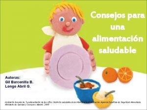 Consejos para una alimentacin saludable Autoras Gil Barcenilla