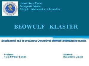 Univerzitet u Zenici Pedagoki fakultet Odsijek Matematika i