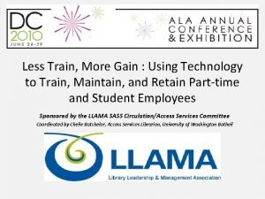 Less Train More Gain Using Technology to Train