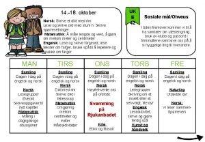 14 18 oktober Norsk Skrive et dikt med