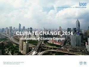 CLIMATE CHANGE 2014 dreamstime Mitigation of Climate Change