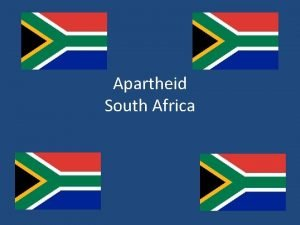 Apartheid South Africa South Africa Tribes in South
