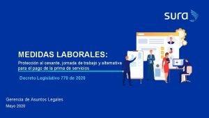 MEDIDAS LABORALES Proteccin al cesante jornada de trabajo