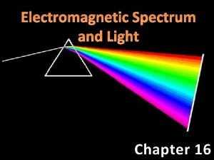 Electromagnetic Spectrum and Light Chapter 16 Electromagnetic EM