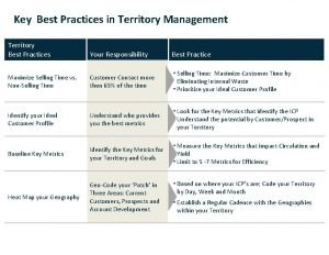 Key Best Practices in Territory Management Territory Best