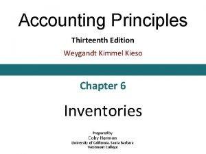 Accounting Principles Thirteenth Edition Weygandt Kimmel Kieso Chapter