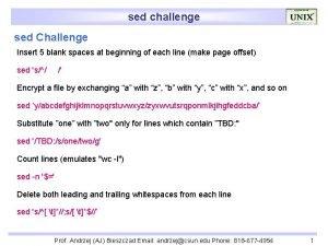 sed challenge sed Challenge Insert 5 blank spaces