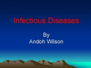 Infectious Diseases By Andoh Wilson Infectious Disease Terms