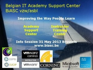Belgian IT Academy Support Center Bi ASC vzwasbl