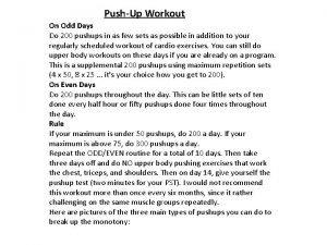PushUp Workout On Odd Days Do 200 pushups