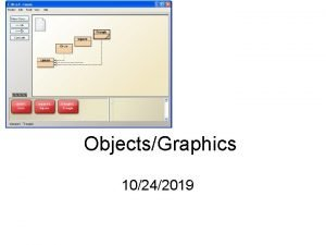 ObjectsGraphics 10242019 Learning Objectives Be able to open