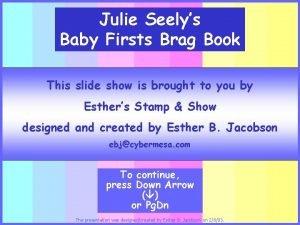 Julie Seelys Baby Firsts Brag Book This slide