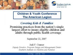 Children Youth Conference The American Legion Covering Kids