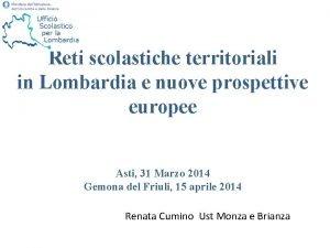 Reti scolastiche territoriali in Lombardia e nuove prospettive