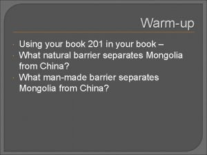 Warmup Using your book 201 in your book