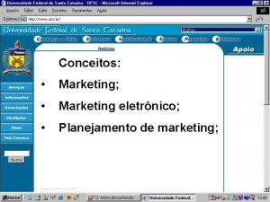 Conceitos Marketing Marketing eletrnico Planejamento de marketing Marketing