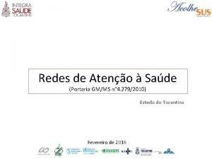 Redes de Ateno Sade Portaria GMMS n 4