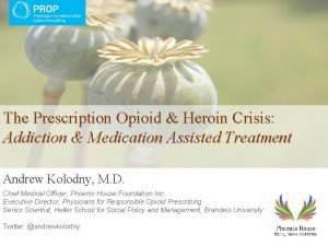The Prescription Opioid Heroin Crisis Addiction Medication Assisted
