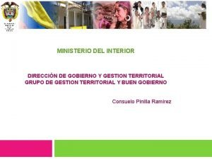 Libertad y Orden Ministerio del Interior Repblica de