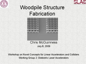 Woodpile Structure Fabrication Chris Mc Guinness July 8