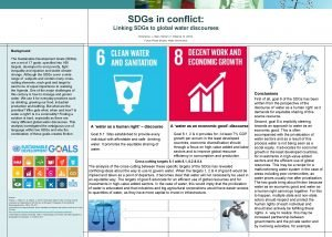 SDGs in conflict Linking SDGs to global water