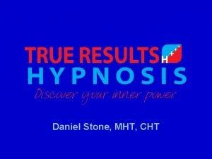 Daniel Stone MHT CHT Daniel Stone MHT CHT