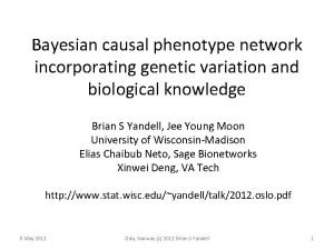 Bayesian causal phenotype network incorporating genetic variation and