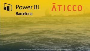 Barcelona Meetup Power BI Barcelona Contacto Dhania Mamodaly