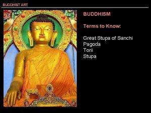 BUDDHIST ART BUDDHISM Terms to Know Great Stupa