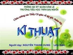 PHNG GDT QUN CM L TRNG TIU HC