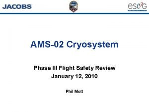 AMS02 Cryosystem Phase III Flight Safety Review January