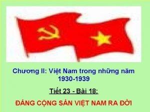 Chng II Vit Nam trong nhng nm 1930
