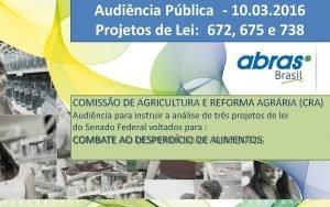 Audincia Pblica 10 03 2016 Projetos de Lei