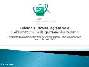 Telefonia Novit legislative e problematiche nella gestione dei