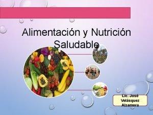 Alimentacin y Nutricin Saludable Lic Jos Velsquez Alzamora