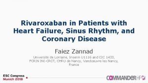 Rivaroxaban in Patients with Heart Failure Sinus Rhythm