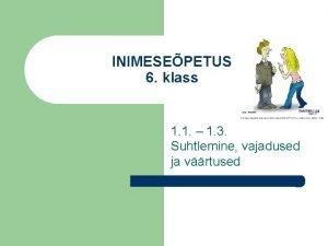 INIMESEPETUS 6 klass 1 1 1 3 Suhtlemine