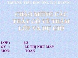 TRNG TIU HC NG CH NG CHO MNG