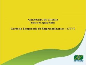 AEROPORTO DE VITRIA Eurico de Aguiar Salles Gerncia