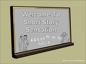 Welcome To Short Story Sensation NEXT NEXT NEXT