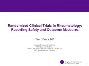 Randomized Clinical Trials in Rheumatology Reporting Safety and