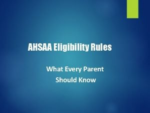 AHSAA Eligibility Rules What Every Parent Should Know
