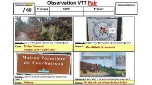 TOTAL POINTS DEDUITS 60 Observation VTT Pair N