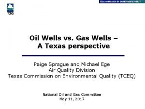 Oil Wells vs Gas Wells A Texas perspective