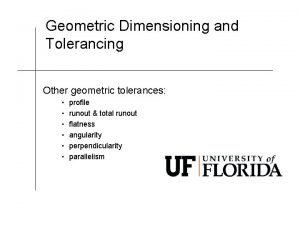 Geometric Dimensioning and Tolerancing Other geometric tolerances profile
