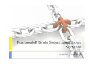 Praxismodell fr ein frderdiagnostisches Vorgehen Maeder Senn 2012