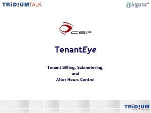 Tenant Eye Tenant Billing Submetering and After Hours